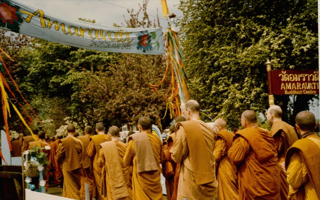 The Sangha formally opened Amaravati in 1985