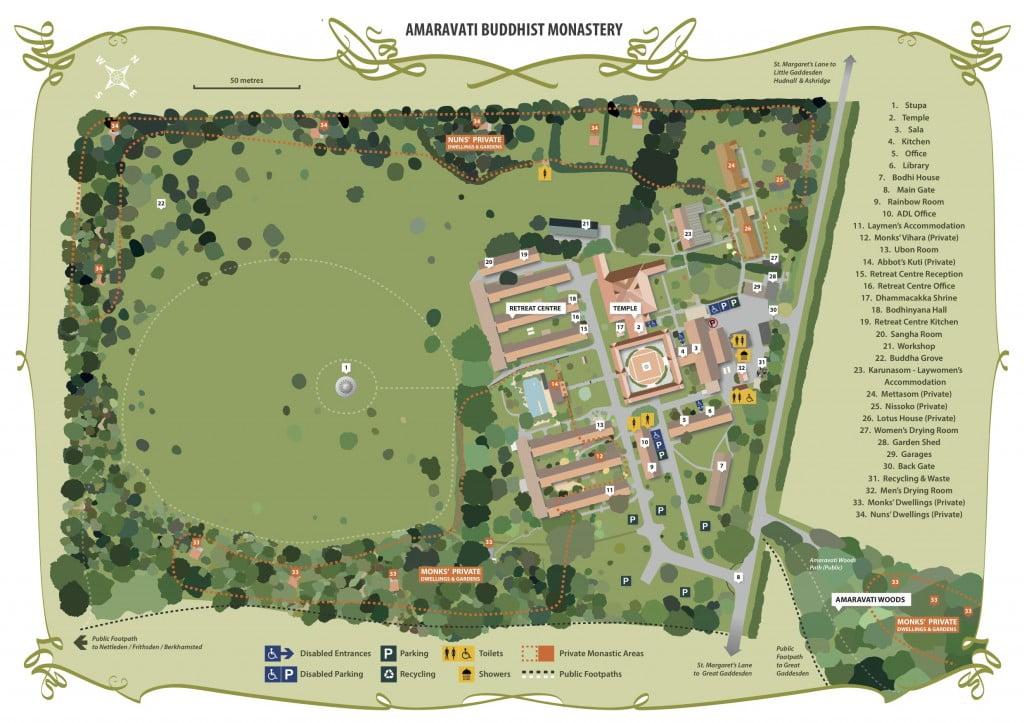 Amaravati Buddhist Monastery's Sitemap