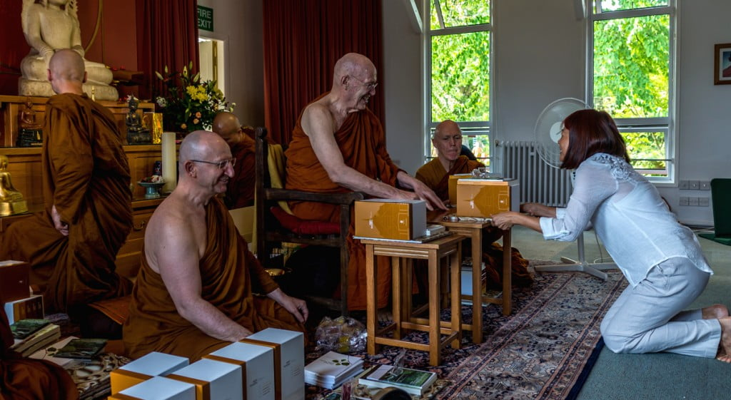 Luang Por Sumedho 80th birthday - book gift