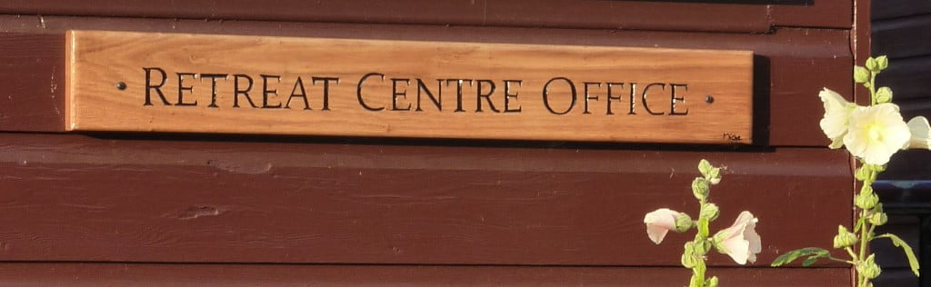 Retreat Centre Office sign