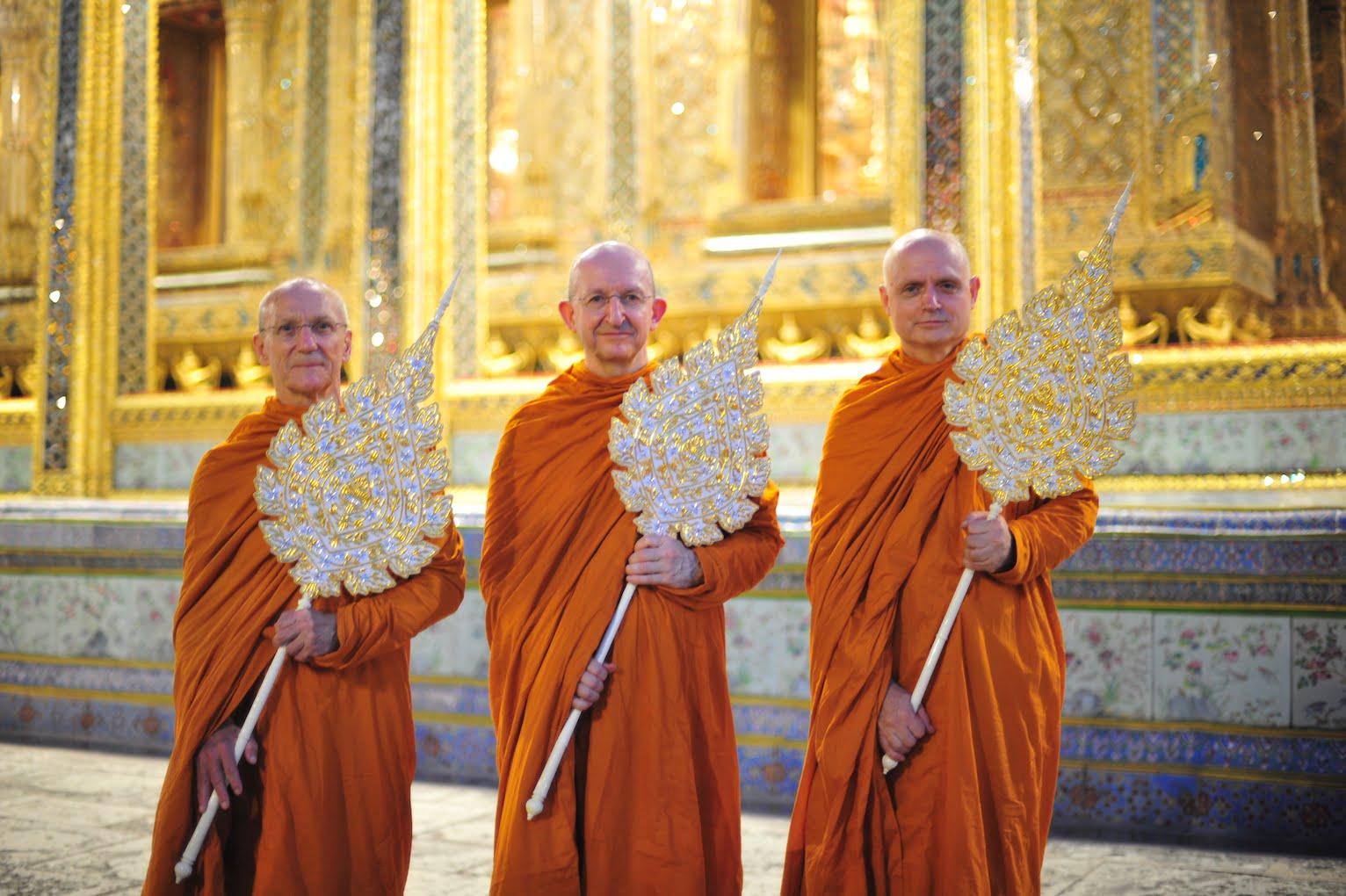 2019.07.28 Chao Khun Raja Ceremony: Ajahn Pasanno, Ajahn Amaro & Ajahn Jayasaro