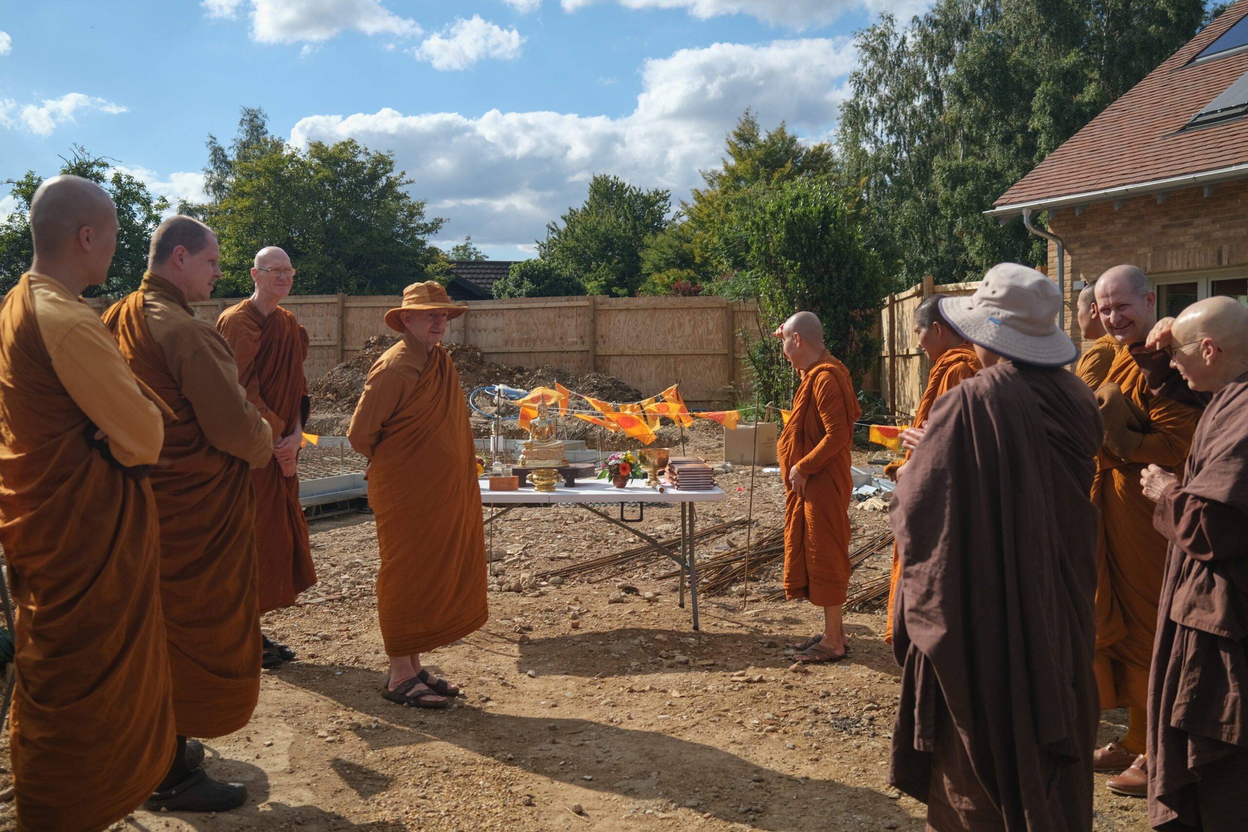 2020.07.19 Blessing Ceremony Construction Nuns Nursing Kuti