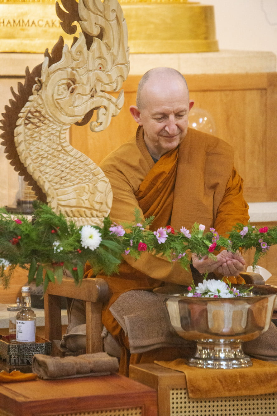 2020.11.23 Ajahn Amaro's 10th Year as abbot of Amaravati ราง รดน้